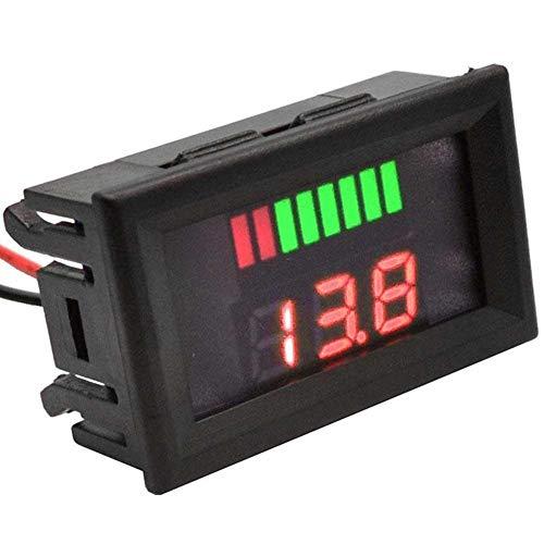 ARCELI Auto Marine Motorrad LED Digital Voltmeter Spannungsmesser Batterieanzeige 12V-60V (blau)
