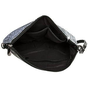 41TtLtQIBQL. SS300  - Caspar TA341 Bolso de Mano Fiesta XL para Mujer Clutch Brillante con Lentejuelas