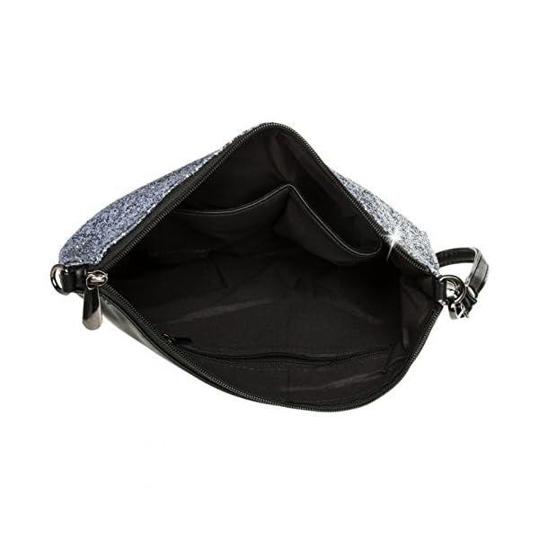 41TtLtQIBQL. SS600  - Caspar TA341 Bolso de Mano Fiesta XL para Mujer Clutch Brillante con Lentejuelas