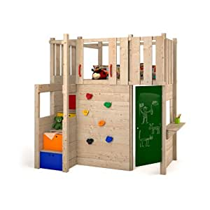 indoor spielturm hochbett spielbett kleiderschrank podest kletterwand spielplatz. Black Bedroom Furniture Sets. Home Design Ideas