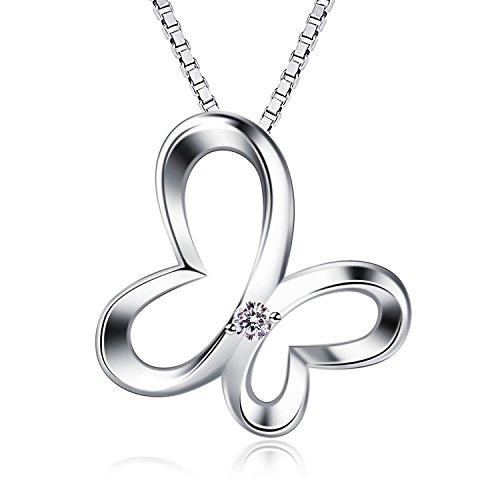 B.Catcher Kette Damen Halskette Anhänger 925 Silber