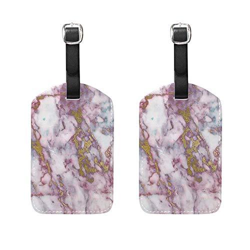 2 PCS Luggage Tags Snow Mountain Flowers Etiquetas de Equipaje Etiquetas de...