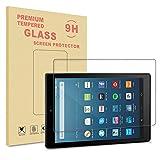 """Nouvelle tablette Fire HD 8 2018 / Fire HD 8 2017 / Fire HD 8 2016 / Fire HD 8 2015 Protecteur écran, Prémium HD Film de Protection d'écran en Verre Trempé de Dureté 9H pour Nouvelle tablette Fire HD 8, écran HD 8"""" (20,3 cm) 2017 / Amazon All New Kindle"""