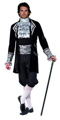 KULTFAKTOR GmbH Barock GRAF Vampir Kostüm schwarz-Silber -