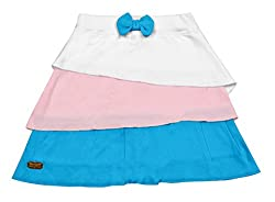 Lil Orchids Girls Tiered Skirt