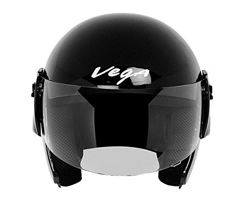 Vega Cruiser Open Face Helmet (Black, M)