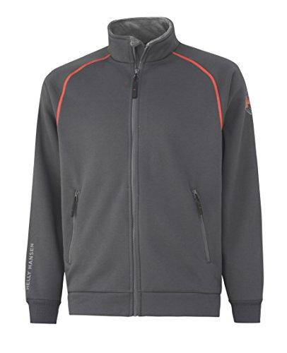 Helly Hansen Workwear Sweatjacke Chelsea FZ Sweater Arbeits-Sweatshirt mit Reißverschluss 970 3XL, grau, 79148 Chelsea Zip