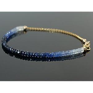 Blaues Saphir Armband Farbverlauf Ombré Effekt