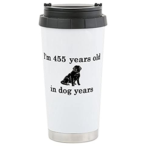 CafePress - 65 Birthday Dog Years L - Stainless Steel Travel Mug, Insulated 16 oz. Coffee & Tea