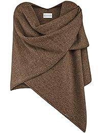 GIESSWEIN Poncho-Schal - eleganter Feinstrick Überwurf aus 100% Lammwolle, hochwertiges Cape für Damen, XXL Umhängetuch, weicher Umhang und Poncho, Stola für Sommer und Winter
