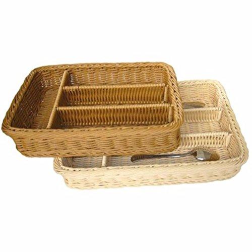 SSBY Western oggetti per il servizio da tavola portaoggetti coltello e forchetta bastoncini di rattan basket-come bacchette quattro finire il cassetto box separati,Beige m