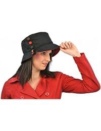 Olney Sombrero de pescador Olivia resistente al agua Negro 3a7e215b5af