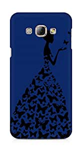AMEZ designer printed 3d premium high quality back case cover for Samsung Galaxy A8 (navy blue princess)