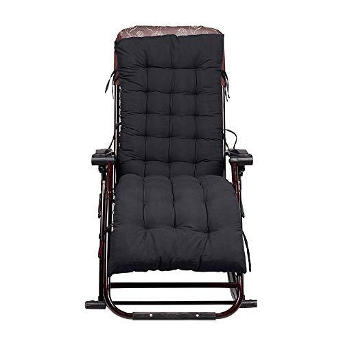 IsEasy Matelas pour Chaises longues Oreiller de Maison Relaxation Coussins Rembourrés, Oreiller de Remplacement pour chaises de Terrasse avec Repose-pieds Super Rembourré Coussin de Chaise à dossier