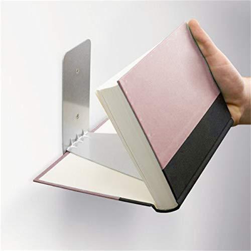 Barlingrock Schwimmregal Bücherregal aus Metall verbergen Buchregal verbergen Wandregal für bis zu 15 kg zur Aufbewahrung und Anzeige Ihrer Lieblingsbücher -