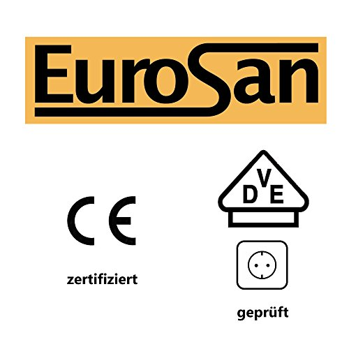Eurosan 2-türiger Spiegelschrank, Superflach, Integrierte LED-Frontbeleuchtung, Breite 100 cm, Weiß, Sydney, S100 - 7