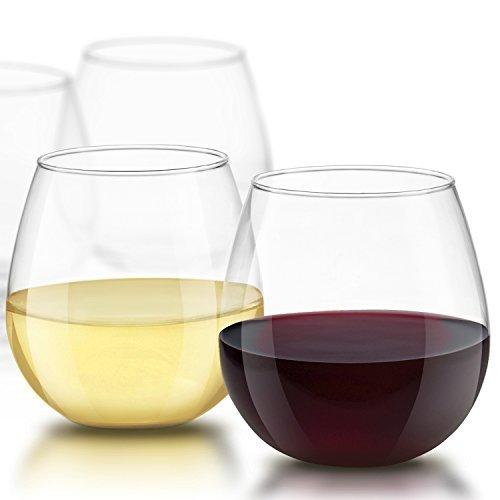 joyjolt Spirituosen ohne Stiel Wein Gläser 15Unze, Set von 4ideal für weiß oder rot wine...