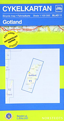 Gotland Cycling Map 2016 por Norstedts
