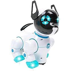 STRIR Mascota Robotico Interactivo Caminar Juguete para Ninos,Perro robot electrónico (Cielo-azul)