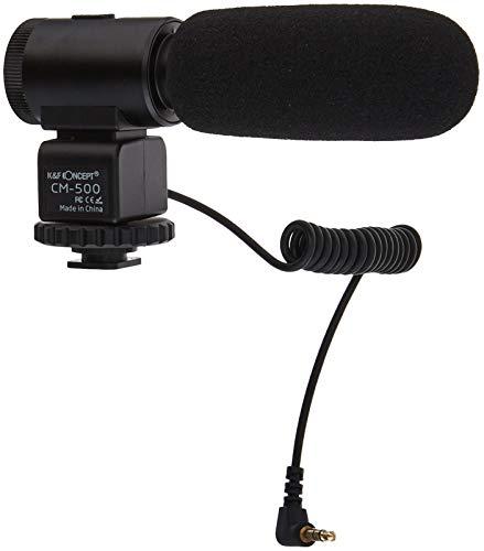 K&F Concept CM-500 Kamera Mikrofon Richtrohrmikrofon Mikrophon für Camcorder Canon Nikon mit 3,5mm-Klinke - Die Wahl Der Internen Filter