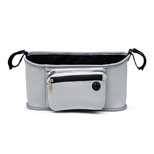 Miss Lulu di alta qualità che cambia organiser borsa rimovibile con cerniera borsa per passeggino Buggy, adatta a tutti i bambini o passeggino Grigio