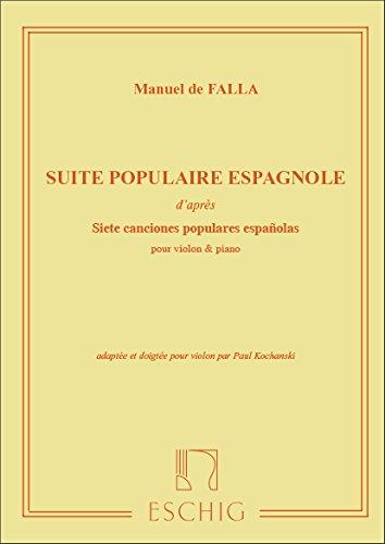 Suite populaire espagnole (Kochanski) - Vl/Po