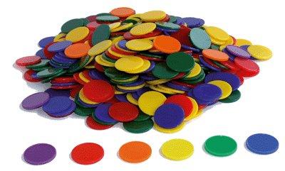 Oz International - Lot de 500 jetons opaques, couleurs assorties