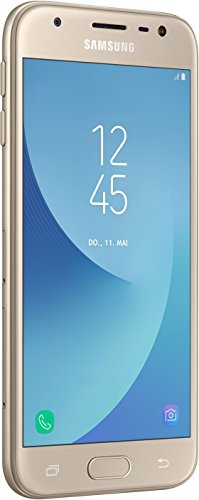 Samsung Galaxy J3 Smartphone (12,67 cm (5 Zoll) Display, 16 GB Speicher, Android 7.0) gold