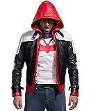 Jason Todd's Batman Arkham Knight - Rote Lederjacke mit Kapuze (XXX-Large)
