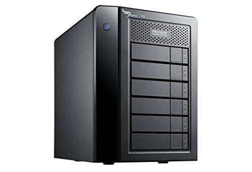 PROMISE - Pegasus 2 R6 RAID-System 24TB I Thunderbolt 2 Technologie I Hot-Swap-fähig I ideales RAID-System für Macs I Ultra-schnelles Festplatten-System zum Speichern von Datenmengen - Schwarz/24TB