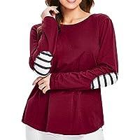 Geili Bluse Damen,Mode Frauen Langarm Verband Striped Patchwork Bluse Herbst Damen Freizeit T-Shirt Pullover Tops... preisvergleich bei billige-tabletten.eu