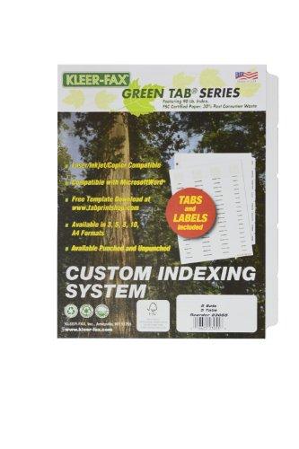kleer-fax Custom Indizierung System-5Tab Set, 3gelocht, 5Sets pro Pack, 23055 (Trennwände Für 3-ring Binder)