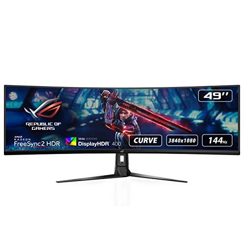 "ASUS ROG Strix XG49VQ - Monitor Gaming Ultrapanorámico de 49"" (3840x1080p, 144 Hz, FreeSync 2 HDR, DisplayHDR 400, DCI-P3: 90%, Shadow Boost) Negro"
