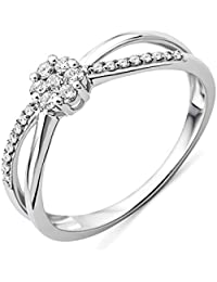 Miore Damen-Ring Solitaire Gold (9 Karat) Diamant 0,25 Karat-T58-MF9034R8
