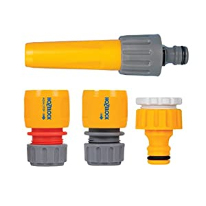Hozelock Kit Inicial Completo para 15 mm, Gris, Amarillo, 1-Pack