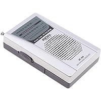 Sharplace Radio FM AM Portàtil Bolsillo de Receptor Telescópica Altavoz de color Plata