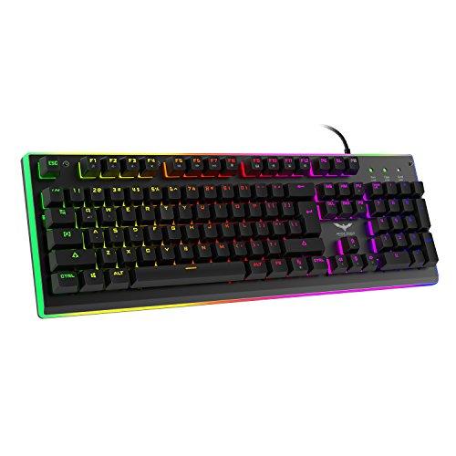 [Aufgerüstete Version] HAVIT Gaming Tastatur mit RGB Hintergrundbeleuchtung