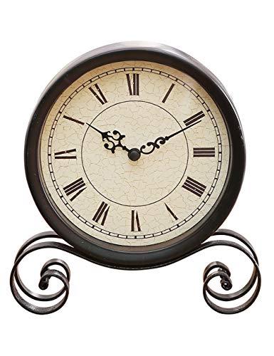 Fonly Einzigartige Uhr Quarzwerk Non-Ticking Barock Vintage kleine Uhren für Wohnzimmer Dekor 6...