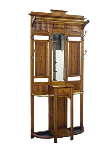 Garderobe Wandgarderobe Flurgarderobe Antik um 1920 aus Eiche B: 98 cm (9107)