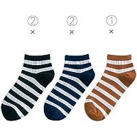 Preisvergleich für Maivasyy 5 Paar Socken kurz Damen Baumwolle Socken dünne Boot Frühling Sommer kurze Socken, Schwarz 2 + Dunkel Blau 2 + Orange 1