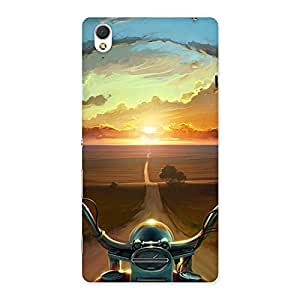 Wonder Cruise Way Multicolor Back Case Cover for Sony Xperia T3
