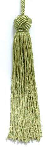 Set von 10Avocado Green Woven Head Chainette Quaste, 14cm lang mit 5,1cm Loop, Basic Rand Collection Stil # bh055Farbe: Avocado grün G1 -