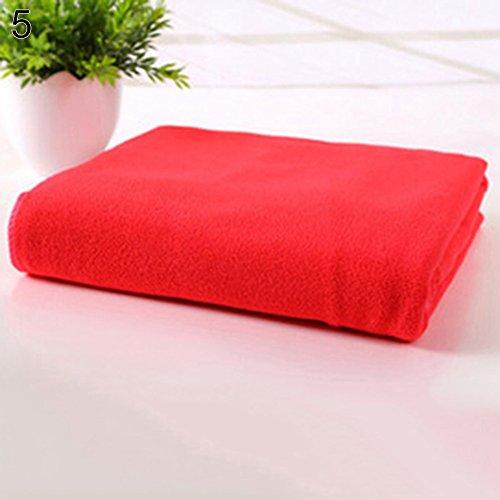 Strimusimak - panno in microfibra assorbente da campeggio, ad asciugatura rapida, 35 x 75 cm rosso