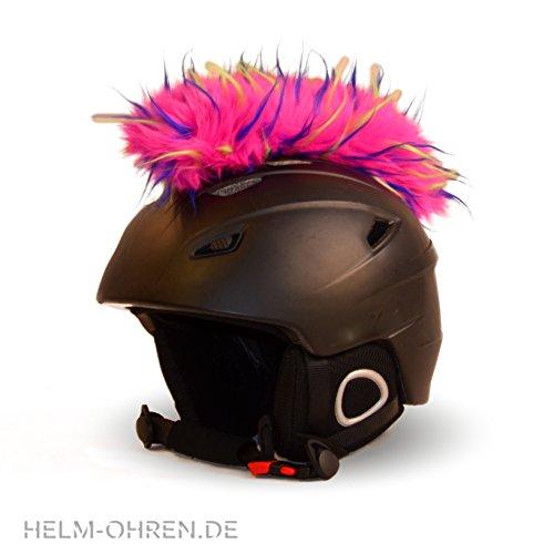 Helm-Irokese für den Skihelm, Snowboardhelm, Kinderskihelm, Kinderhelm, Motorradhelm oder Fahrradhelm - - Der HINGUCKER - Der etwas auffälligere Helm-Aufkleber - für Kinder und Erwachsene HELMDEKO (Multicolor)