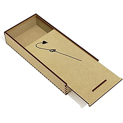 'Fishing Hook' Wooden Pencil Case / Slide Top Box (PC00010274) by Stamp Press