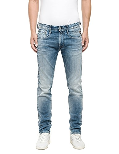 Replay - Anbass, Jeans Uomo, Blu (Blue Denim 734-10), W34/L32
