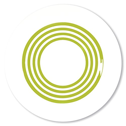 Bruno Evrard Assiette Creuse à Rayures Vert anis en Porcelaine 24cm - Lot de 6 - Freshness Lines