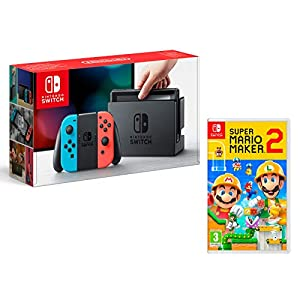 Nintendo Switch 32Gb Neon-Rot/Neon-Blau + Super Mario Maker 2