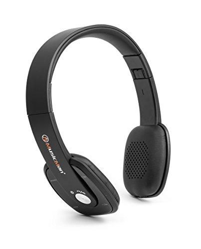 MusicMan 4643 Slim Bluetooth Kopfhörer BT-X27 mit integrierter Freisprechfunktion und FM Radio schwarz