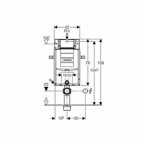 Geberit Kombifix Plus UP- Spülkasten UP320, 110.300 Bauhöhe 108cm,